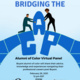 Bridging the Gap flyer with event details- February 26th from 12pm-1pm