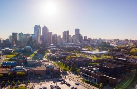 CU Denver campus aerial