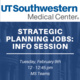 Info Session: Positions in Strategic Planning at UTSW