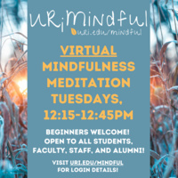 URiMindful Open Tuesday Mindful Meditation Group *Virtual