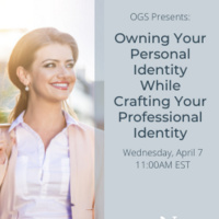 Owning Your Student Identity While Crafting Your Professional Identity