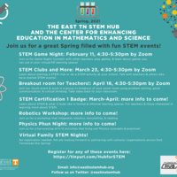 Flyer with event information about Hub for STEM