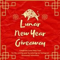 """image of  Chinese Zodiak Ox with """"Lunar New Year Giveaway"""" wording"""