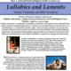 Event flyer: Lullabies and Laments, featuring Archana Venkatesan and Sikkil Gurucharan