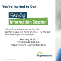 Virtual Family Information Session | Bright Horizons