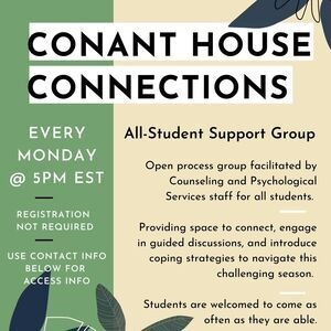 Conant House Connections - All-Student Support Group