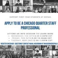 Chicago Quarter Staff Professional Info Session #7