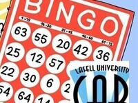 Bingo Cards with Lasell University Campus Activities Board Logo