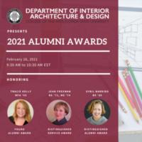 Interior Design and Architecture's 2021 Alumni Award Celebration
