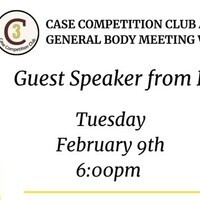 Case Competition Club at FSU General Body Meeting - February 9th
