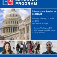 Washington Semester Internship @ American U. Virtual Info Session | Political Science