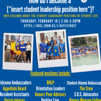 How Do I Become A [*Insert Student Leadership Position Here*]?