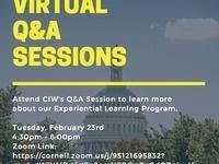 Cornell in Washington Virtual Q&A Session
