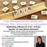 Pain Management for Cancer and Chronic Pain: Information vs. Accusation