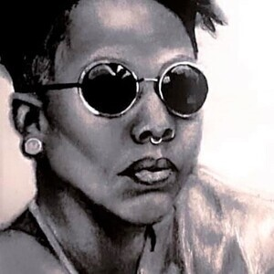 artwork of Black woman created by Allie Hicks