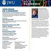 Your Brain On A Pandemic: What Students and Faculty Need To Know ~ Featuring Amy Arnsten, Ph.D.