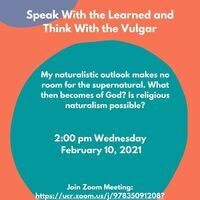 """Colloquia: Howard Wettstein - """"Speak with the Learned and Think with the Vulgar"""""""