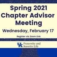 Spring Chapter Advisor Meeting (Cancelled)