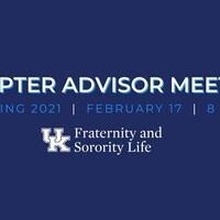 Chapter Advisor Meeting
