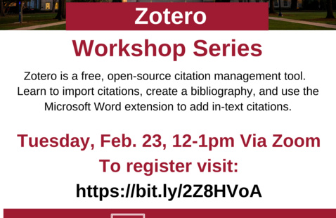 Getting Started with Zotero Citation Management