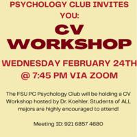 Psych Club Presents: CV Workshop
