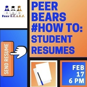 Peer B.E.A.R.S. #HowTo Student Resume