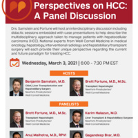FLYER: Multidisciplinary Perspectives on HCC: A Panel Discussion