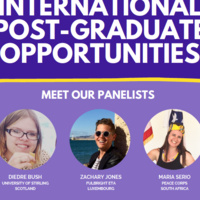 Flyer with photo of Diedre Bush, Zachary Jones, Maria Serio
