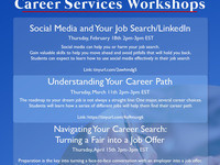 Career Services Workshop: Navigating Your Career Search: Turning a Fair into a Job Offer