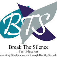 BTS Break the Silence Peer Educators over teal, purple, and gray leaves