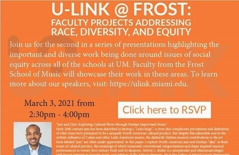 U-Link @ Frost: Faculty Projects Addressing Race, Diversity, and Equity