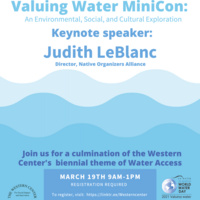 Valuing Water MiniCon: An Environmental, Social, and Cultural Exploration