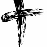 cross made from ashes
