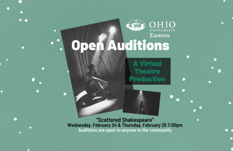 """OHIO Eastern Hosts """"Scattered Shakespeare"""" Open Auditions"""