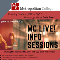 Interested in graduating debt free? Join a Metro College Info Session!
