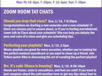 TAT CHATS for first years and transfers
