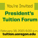 President's Virtual Forum on Tuition and Fees