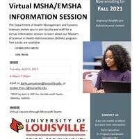 MSHA/ EMSHA Virtual Information Session