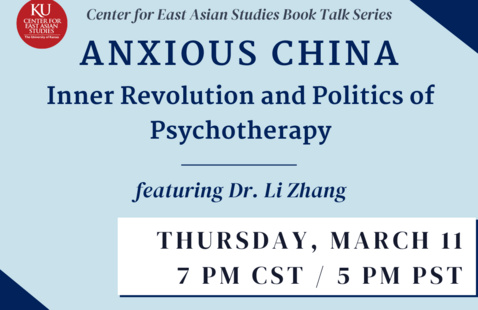 Book Talk: Anxious China, by Dr. Li Zhang