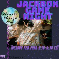 Involvement Week: Climate Crisis Club Game Night!