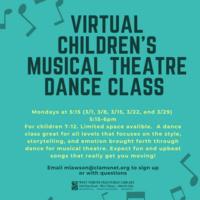 Virtual Children's Musical Theatre Jazz Class