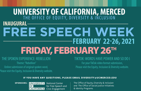 The Office of Equity, Diversity & Inclusion Present: Inaugural Free Speech Week-February 21-26, 2021: Friday