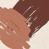 Light brown and dark brown color swaths