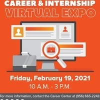 Career & Internship Virtual Expo - February 19, 2021 from 10 am to 3 pm