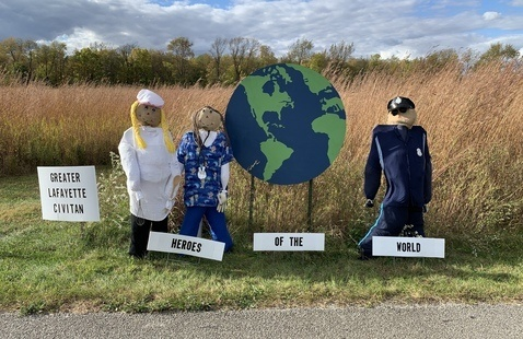 Scarecrow display, photo by J Parks