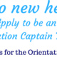 Orientation Captain Application Live!