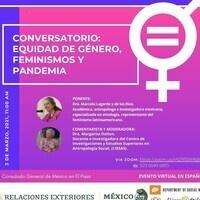 Conversatorio: Equidad de Género, Feminismos y Pandemia