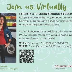 Celebrity Chef Robyn Almodovar Zoom Cooking Class