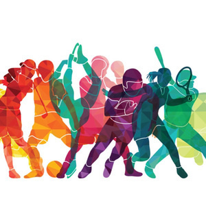 graphic of women playing sports