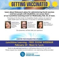 How Delawareans With Disabilities Can Access the Covid Vaccines